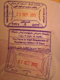 kurdistan viza
